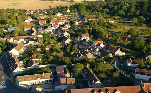 Vue aérienne La Brosse-Montceaux