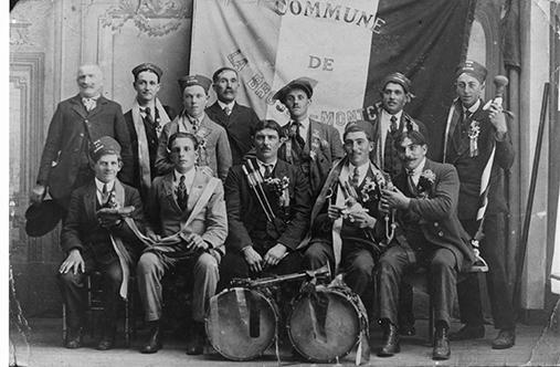 Conscrits 1922 La Brosse Montceaux