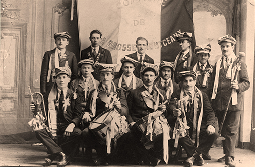 Conscrits 1923 La Brosse Montceaux